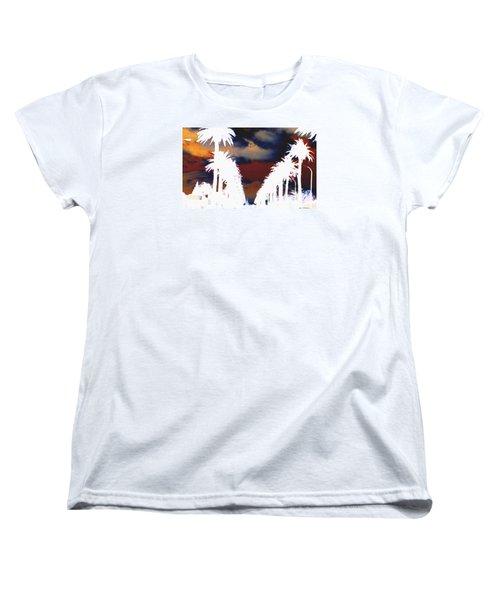 Women's T-Shirt (Standard Cut) featuring the photograph Moody Blues by Linda Hollis