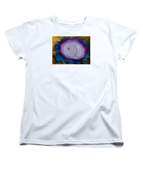 Women's T-Shirt (Standard Cut) featuring the painting Moon Snail by Deborha Kerr