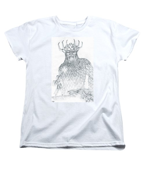 Women's T-Shirt (Standard Cut) featuring the drawing Morgoth And Fingolfin by Curtiss Shaffer