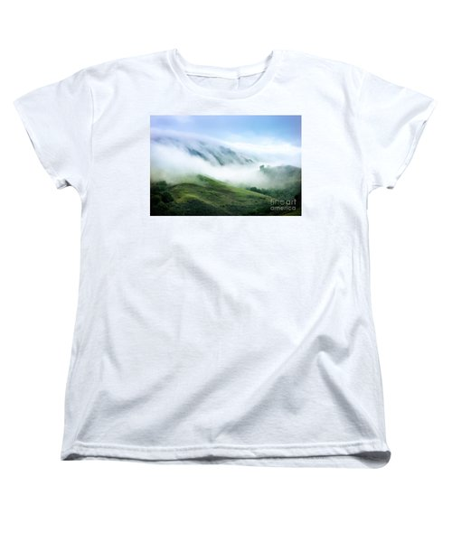 Morning Fog Women's T-Shirt (Standard Cut) by Ellen Cotton