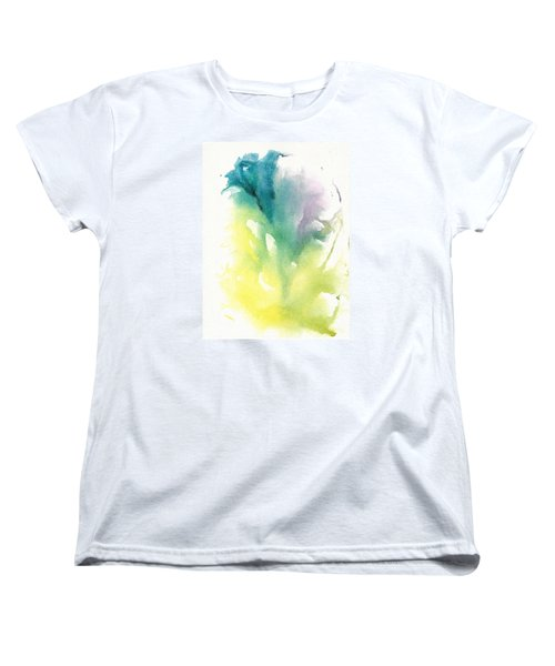 Women's T-Shirt (Standard Cut) featuring the painting Morning Glory Abstract by Frank Bright