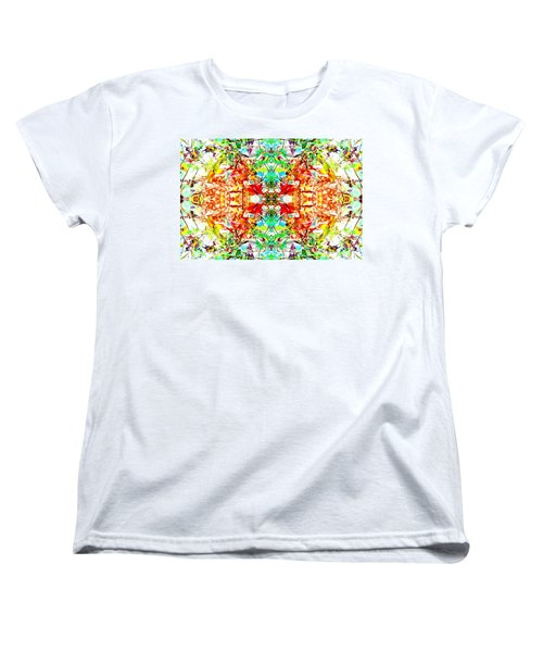 Mosaic Of Spring Abstract Art Photo Women's T-Shirt (Standard Cut) by Marianne Dow