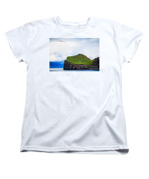 Women's T-Shirt (Standard Cut) featuring the photograph Most Peaceful House In The World by Peta Thames