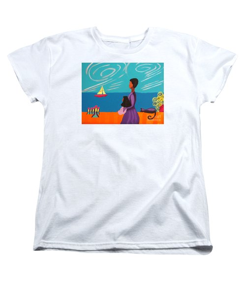 Mother And Daughter Women's T-Shirt (Standard Cut) by Anita Lewis