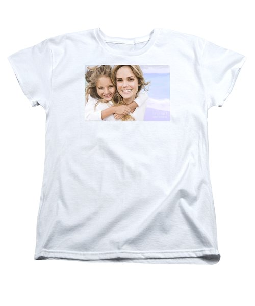 Women's T-Shirt (Standard Cut) featuring the painting Mother Daughter Portrait   by Tim Gilliland
