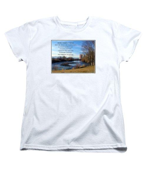 Women's T-Shirt (Standard Cut) featuring the photograph Mother Natures Canvas by Bobbee Rickard