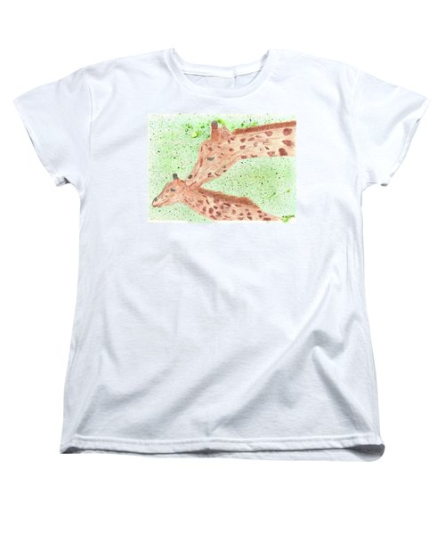 Women's T-Shirt (Standard Cut) featuring the painting Motherly Love by Tracey Williams
