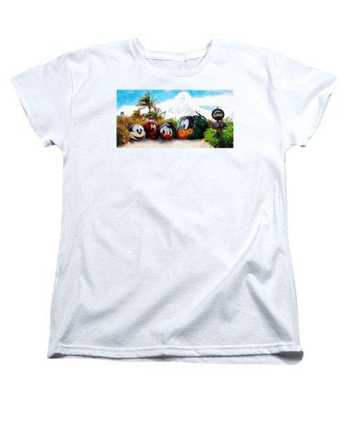 Mount Rustmore Castaway Cay Women's T-Shirt (Standard Cut) by Sandy MacGowan