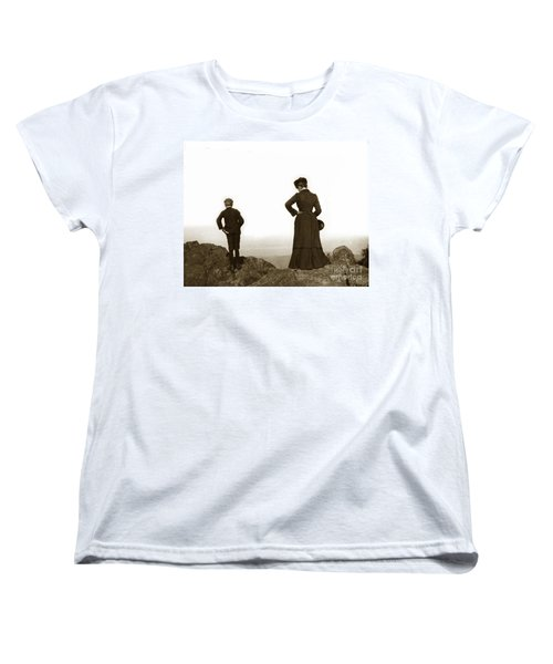 Women's T-Shirt (Standard Cut) featuring the photograph Mount Tamalpais Marin County California Circa 1902 by California Views Mr Pat Hathaway Archives