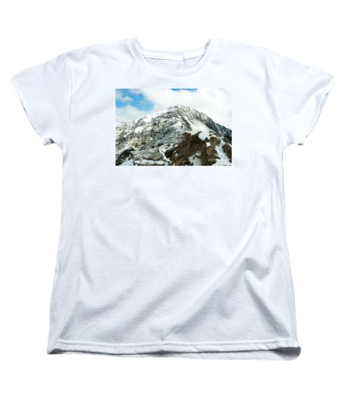 Mountain Covered With Snow Women's T-Shirt (Standard Cut)