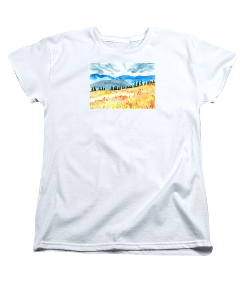 Mountain View Women's T-Shirt (Standard Cut) by Kate Black