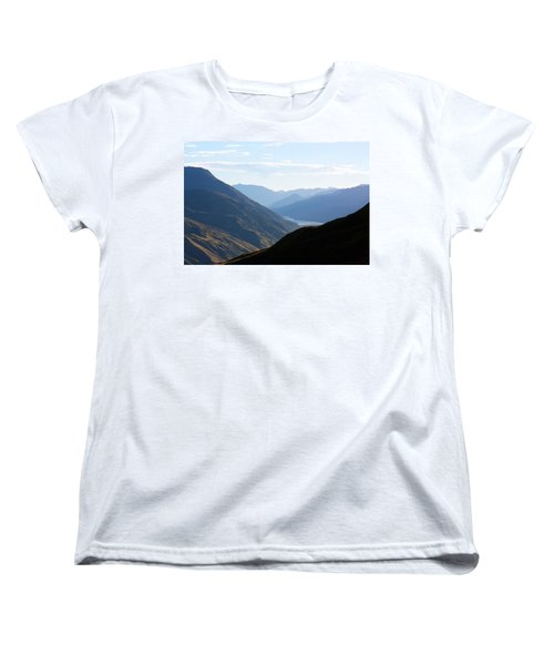 Mountains Meet Lake #3 Women's T-Shirt (Standard Cut) by Stuart Litoff