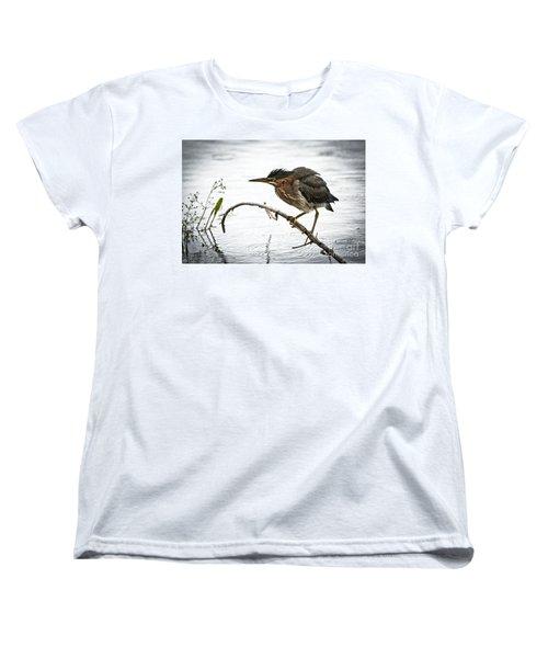 Mr. Green Heron Women's T-Shirt (Standard Cut) by Cheryl Baxter