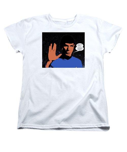 Women's T-Shirt (Standard Cut) featuring the digital art Mr. Spock by Saad Hasnain