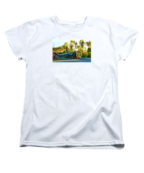 Mt Rainier W A Scenic Railroad Women's T-Shirt (Standard Cut) by Sadie Reneau