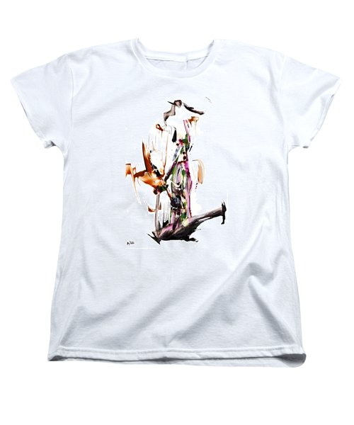 Women's T-Shirt (Standard Cut) featuring the painting My Form Of Jazz Series - 10187.110709 by Kris Haas