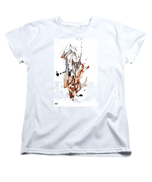 Women's T-Shirt (Standard Cut) featuring the painting My Form Of Jazz Series - 10188.110709 by Kris Haas