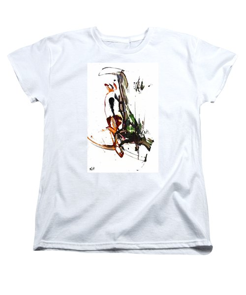 Women's T-Shirt (Standard Cut) featuring the painting My Form Of Jazz Series - 10185.110709 by Kris Haas