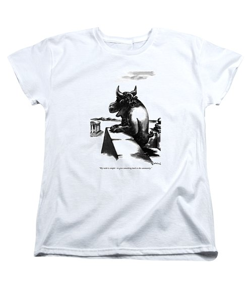 My Wish Is Simple - To Give Something Back Women's T-Shirt (Standard Cut)