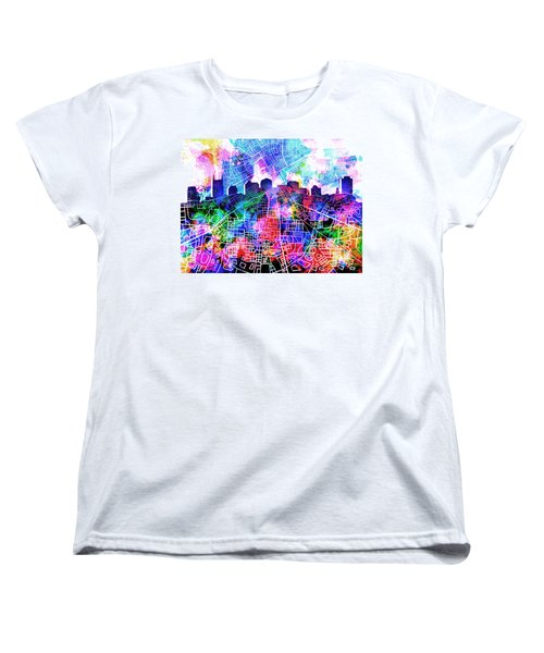 Nashville Skyline Watercolor 5 Women's T-Shirt (Standard Cut) by Bekim Art