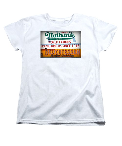 Nathan's Sign Women's T-Shirt (Standard Cut) by Valentino Visentini