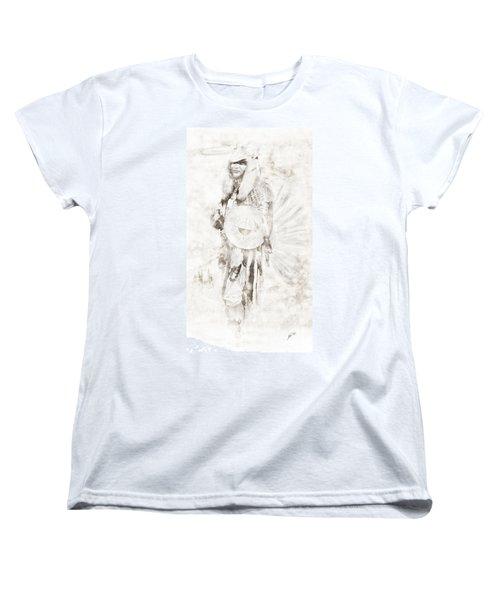 Women's T-Shirt (Standard Cut) featuring the digital art Native American by Erika Weber