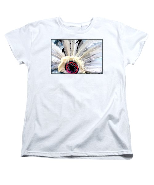Native American White Feathers Headdress Women's T-Shirt (Standard Cut)