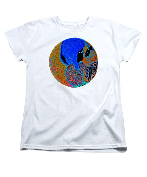 Women's T-Shirt (Standard Cut) featuring the painting Nativity Of Jesus by Gloria Ssali