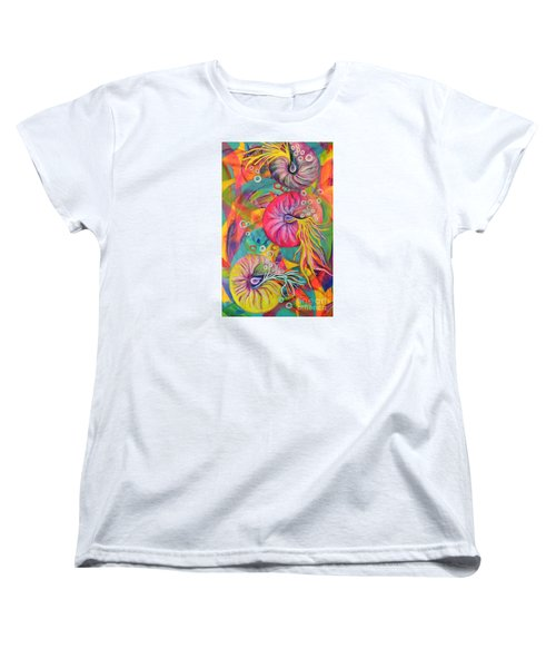 Women's T-Shirt (Standard Cut) featuring the painting Nautilus by Lyn Olsen