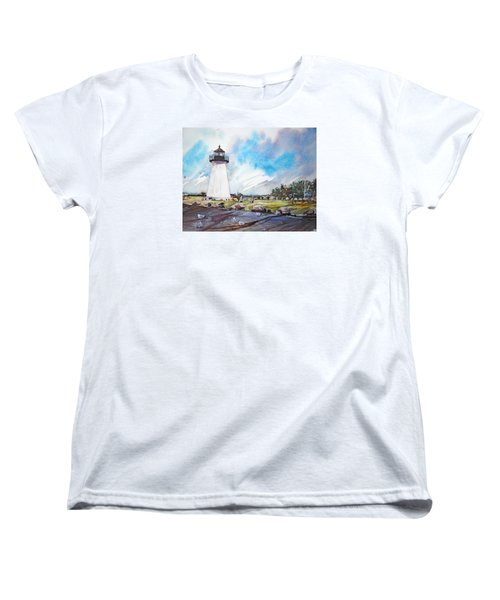 Ned's Point Light Women's T-Shirt (Standard Cut) by P Anthony Visco