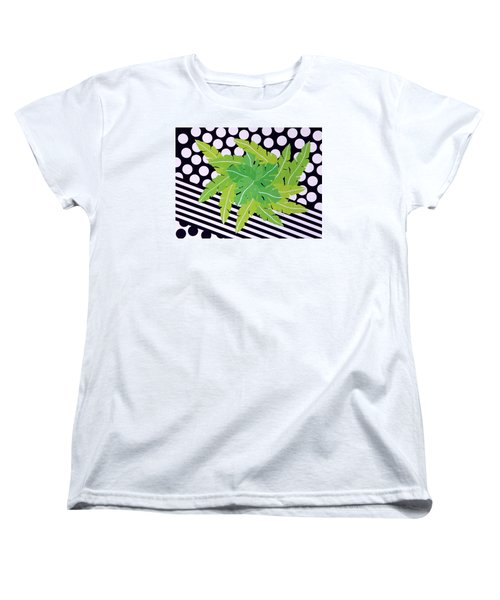 Negative Green Women's T-Shirt (Standard Cut) by Thomas Gronowski