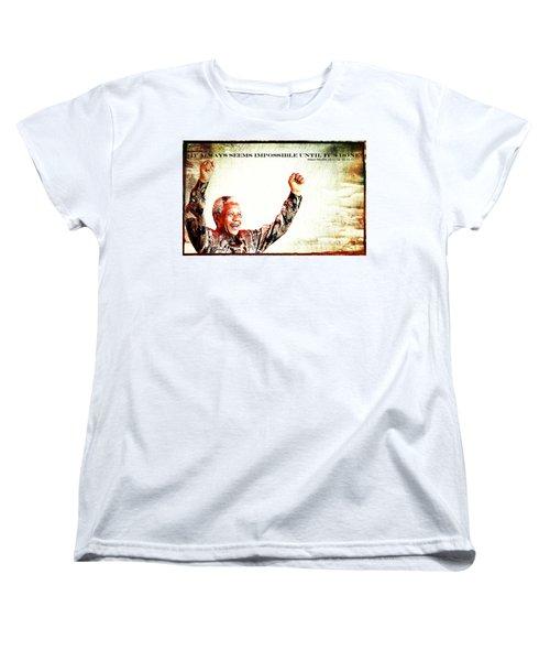 Nelson Mandela Women's T-Shirt (Standard Cut) by Spikey Mouse Photography