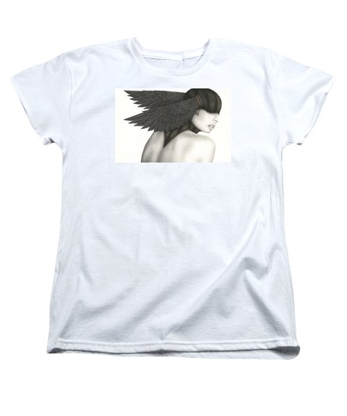 Women's T-Shirt (Standard Cut) featuring the painting Nevermore by Pat Erickson