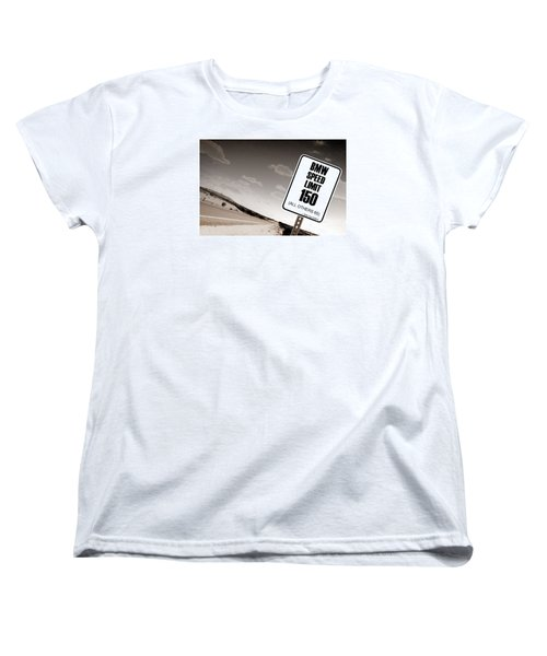 Women's T-Shirt (Standard Cut) featuring the photograph New Limits Sepia by David Jackson