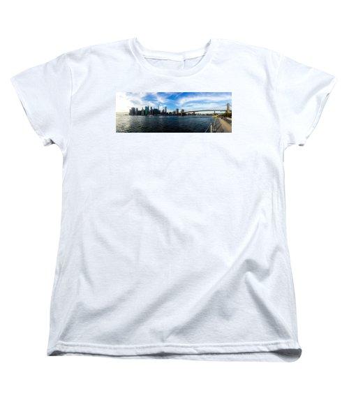 New York Skyline - Color Women's T-Shirt (Standard Cut)