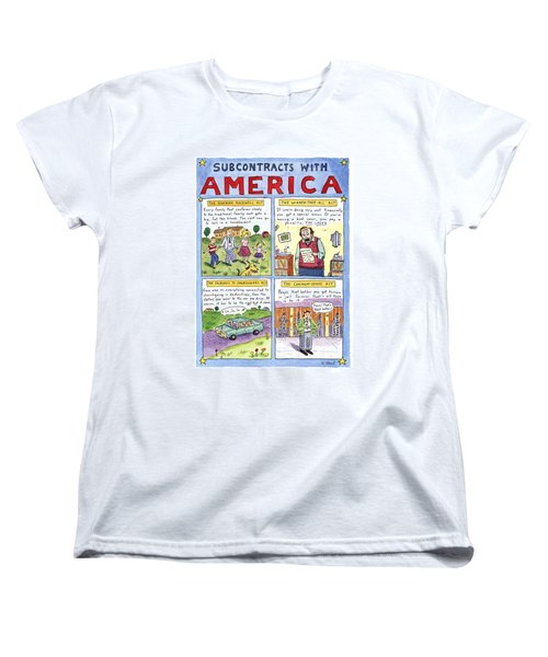New Yorker January 16th, 1995 Women's T-Shirt (Standard Cut) by Roz Chast