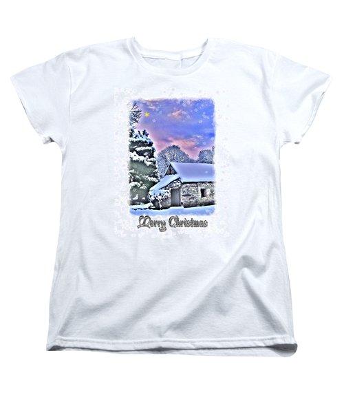 Christmas Card 27 Women's T-Shirt (Standard Cut) by Nina Ficur Feenan