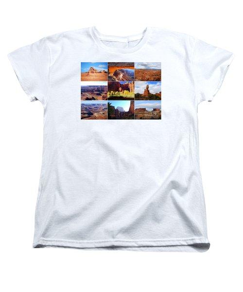 Nine Utah Landmarks Women's T-Shirt (Standard Cut) by Catherine Sherman