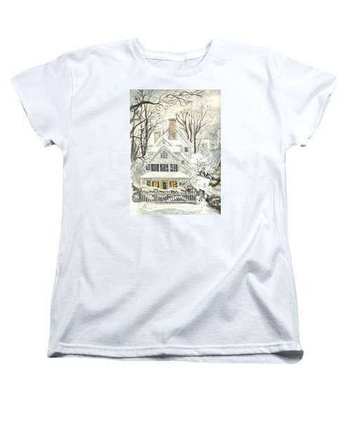 No Place Like Home For The Holidays Women's T-Shirt (Standard Cut) by Carol Wisniewski