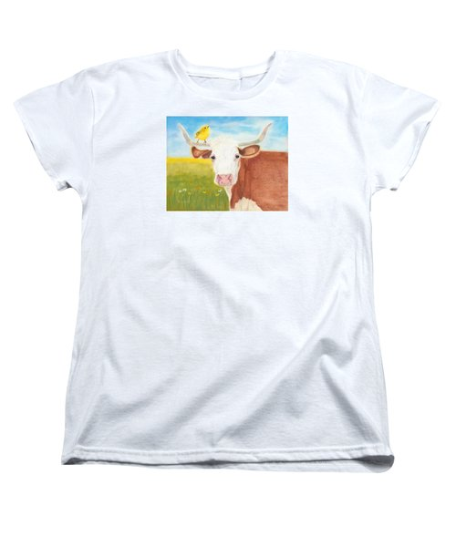 Women's T-Shirt (Standard Cut) featuring the painting No Tree Necessary by Arlene Crafton