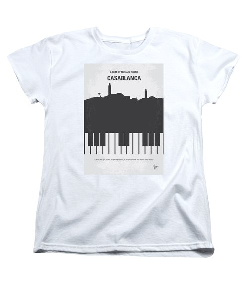 No192 My Casablanca Minimal Movie Poster Women's T-Shirt (Standard Cut)