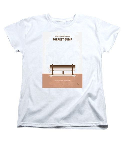 No193 My Forrest Gump Minimal Movie Poster Women's T-Shirt (Standard Cut)
