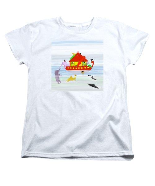 Noah's Ark Women's T-Shirt (Standard Cut) by Barbara Moignard