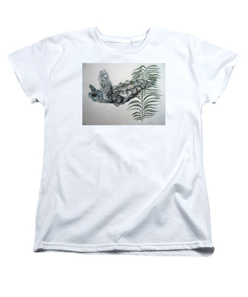Women's T-Shirt (Standard Cut) featuring the drawing Norman Blue by Mayhem Mediums