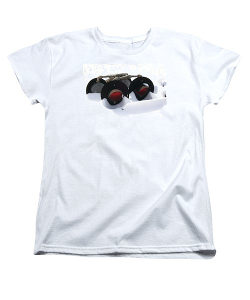 Women's T-Shirt (Standard Cut) featuring the photograph Nothin But Lights by Sara  Raber