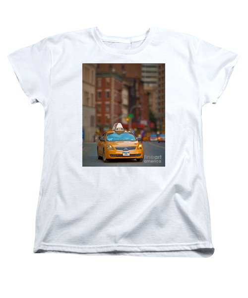 Taxi Women's T-Shirt (Standard Cut) by Jerry Fornarotto