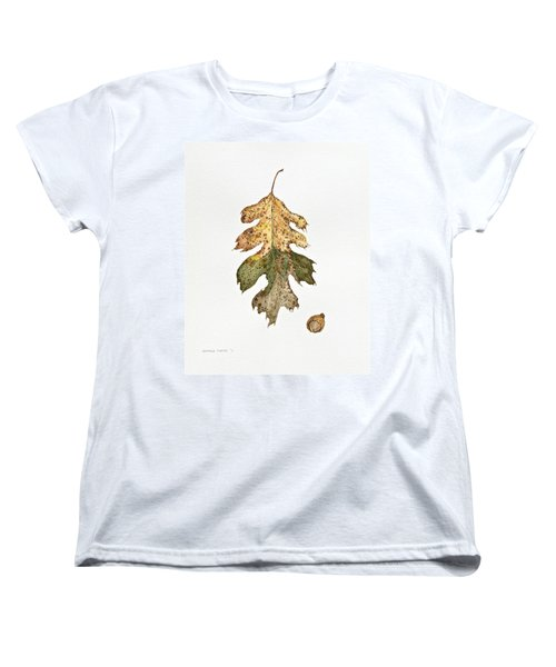 Women's T-Shirt (Standard Cut) featuring the painting Oak Study by Michele Myers