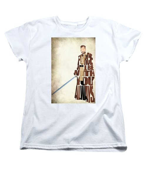Obi-wan Kenobi - Ewan Mcgregor Women's T-Shirt (Standard Cut) by Ayse Deniz
