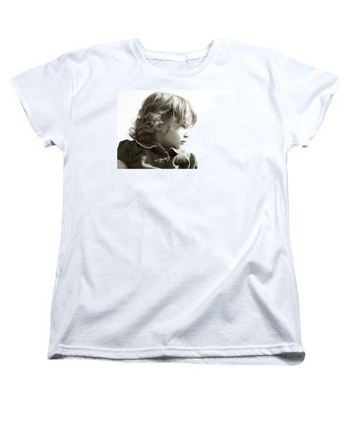 Women's T-Shirt (Standard Cut) featuring the photograph Observations Of A Child by Charles Beeler