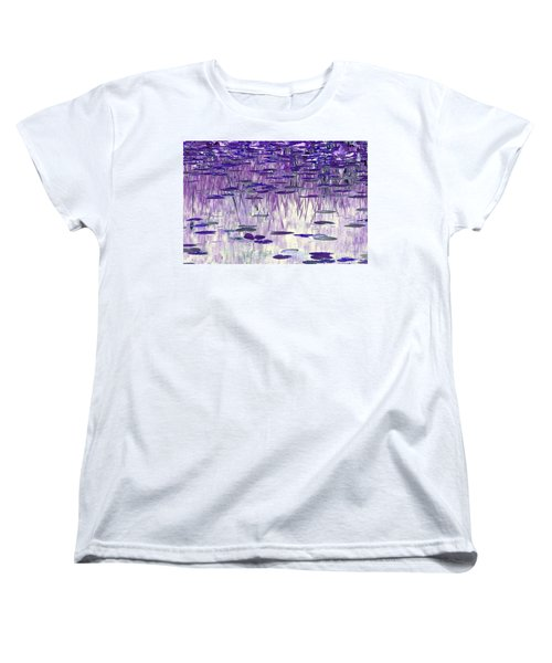 Ode To Monet In Purple Women's T-Shirt (Standard Cut) by Chris Anderson